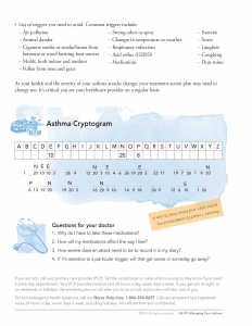 Asthma workbook exercise